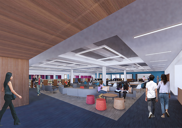 Copley Library Project Rendering 1st Floor