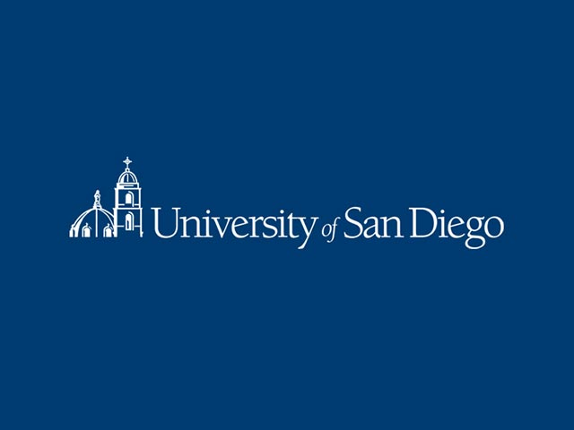 USD logo with dark blue background