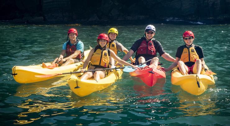 Kayaking with USD President