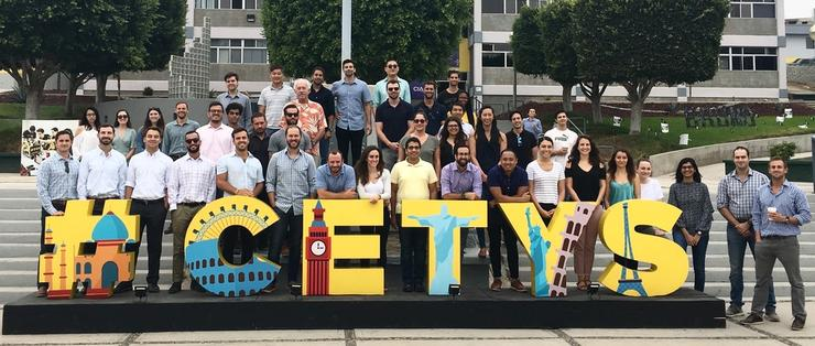 Photo of USD MBA Students in front of mural in Ensenada, Mexico