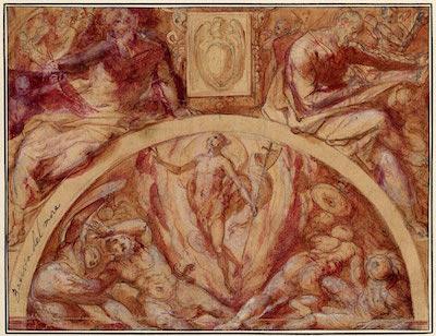 image of Giovanni DeVecchi's design for a chapel decoration