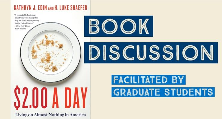 $2.00 a day book discussion facilitated by graduate students
