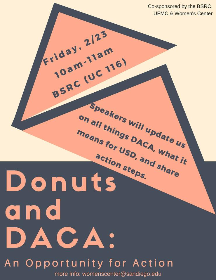 Donuts and DACA flyer