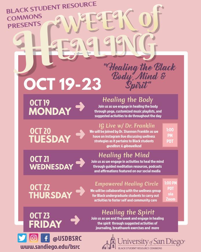 Week of Healing Flyer