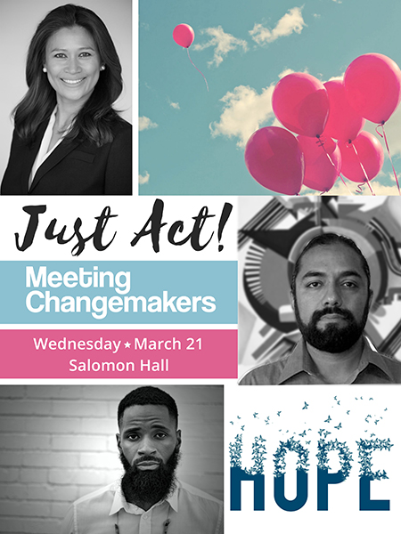 just act meeting changemakers image of stephanie brown, isaias crow, harold green