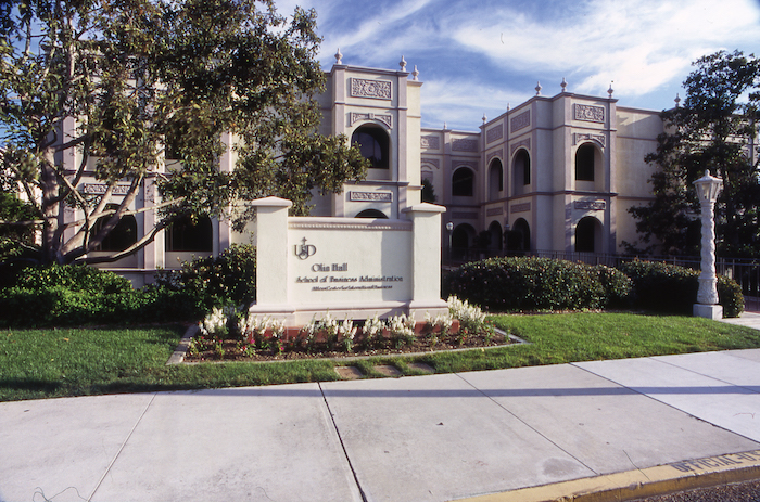 Olin Hall at the University of San Diego campus