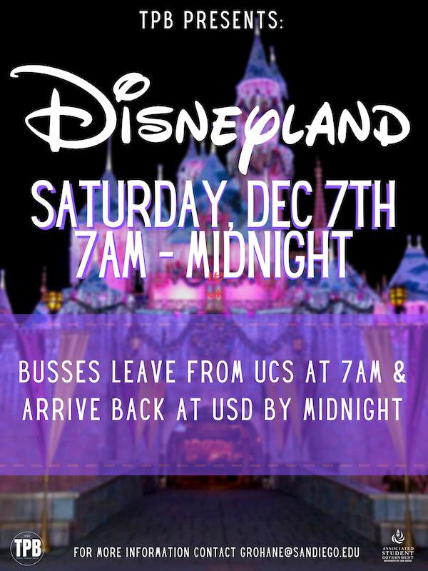 Disneyland flyer