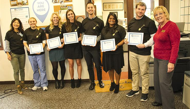 Second-year students in USD's Master's Entry Program in Nursing (MEPN) were one of the top vote-getters in the Fall 2018 USD Changemaker Challenge.