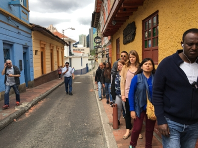 Walking through the streets of Bogotá