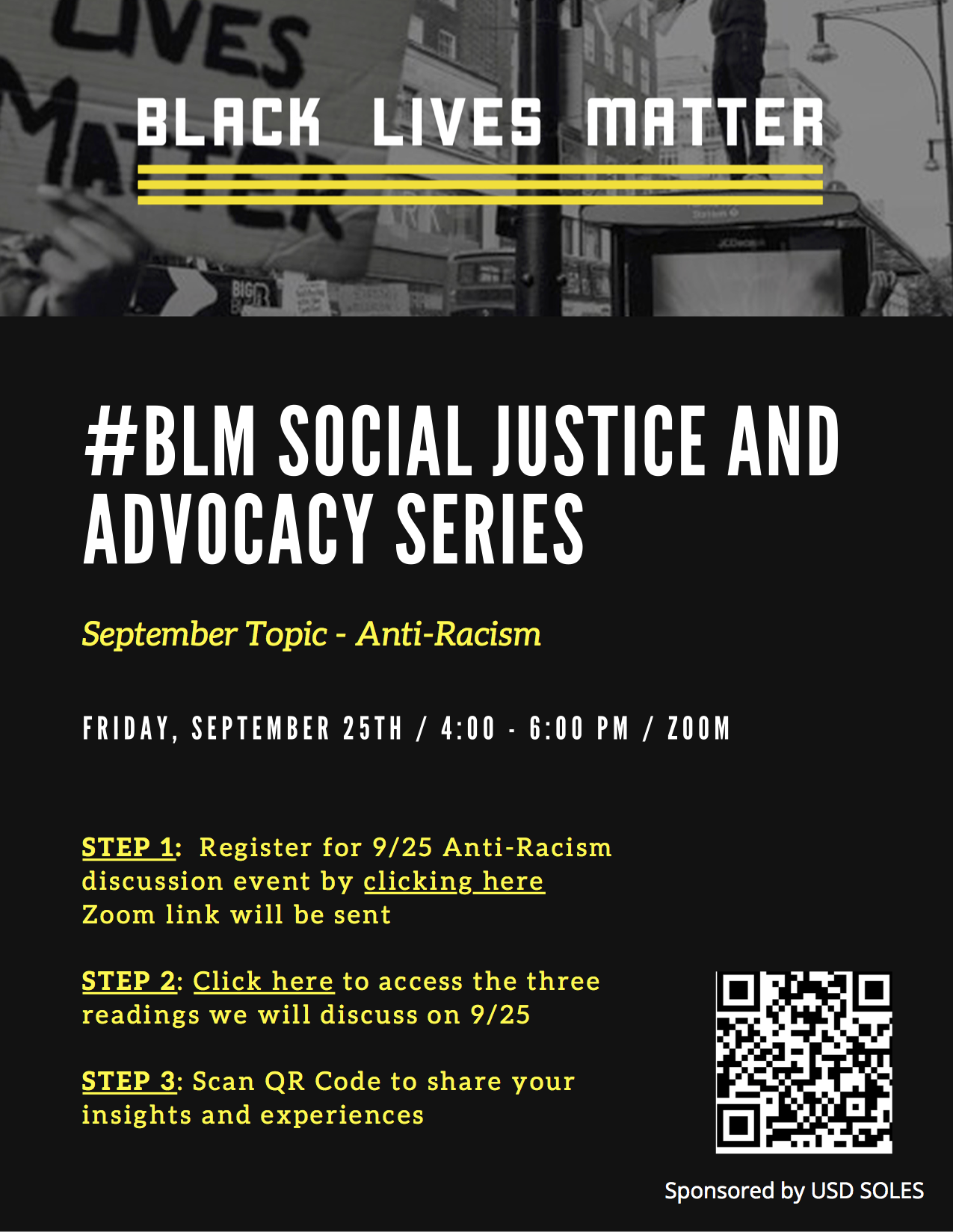BLM Event Flyer