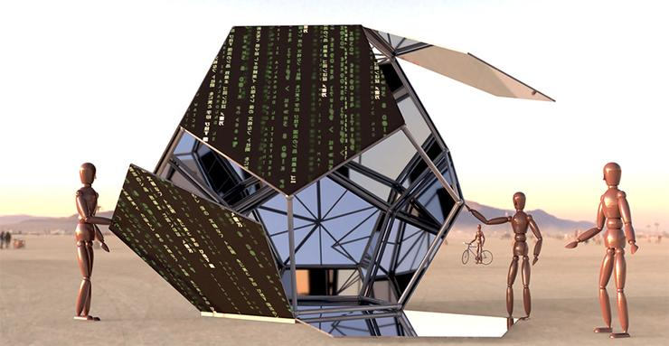 Software prototype of the Unfolding Humanity project that a group, consisting of USD faculty, students and alumni, are building and displaying at Burning Man Aug. 26-Sept 3.
