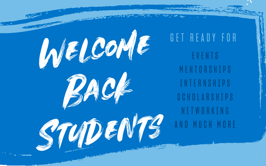Image says Welcome Back Students
