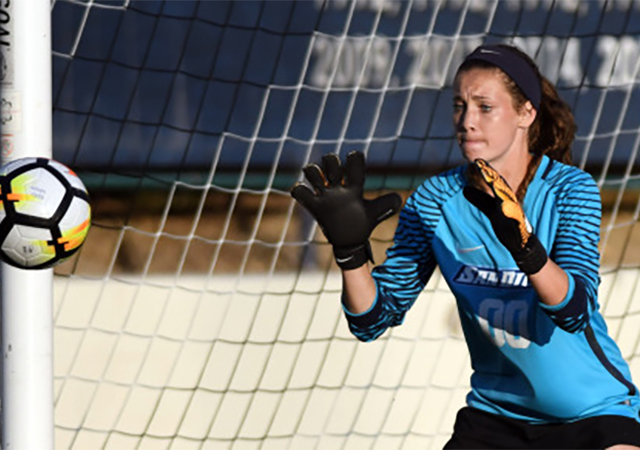 Amber Michel, women's soccer goalie