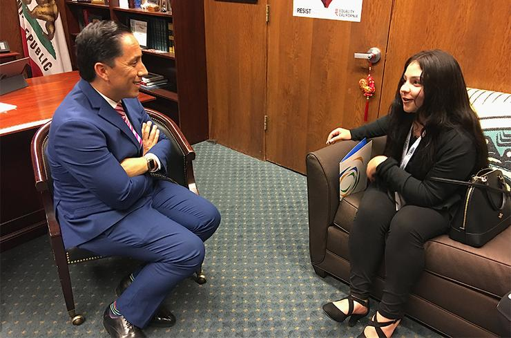 Todd Gloria with USD students on AICCU Day