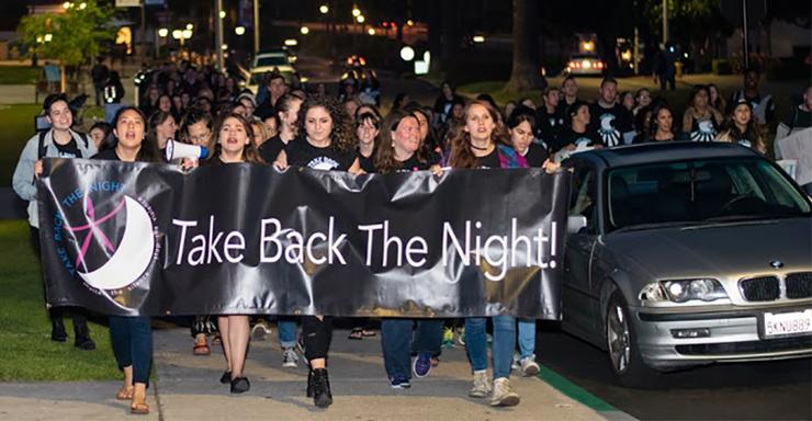 Take Back the Night is one of several events taking place during Sexual Assault Awareness Week at USD. This year's event is April 5, starting at 6:45 p.m. at the SLP's Plaza Mayor.