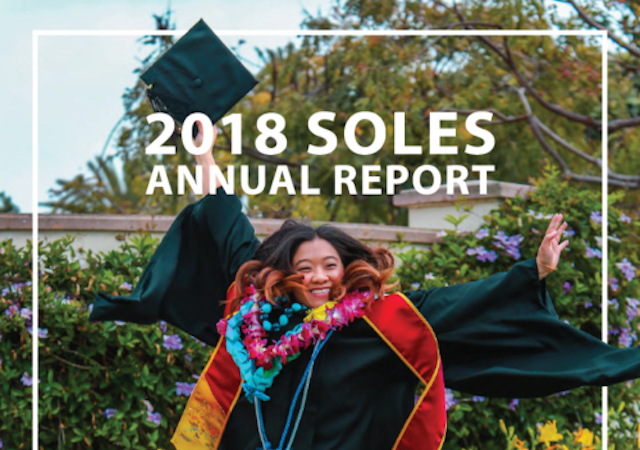SOLES Annual Report 2018, girl jumping
