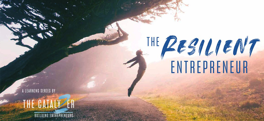 Connor Hountalas, the 2019 V2 Pitch Competition winner, will give a presentation during today's Resilient Entrepreneur Series event.