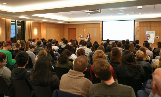 Audience at Fordham Univeristy
