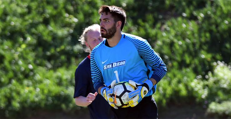 University of San Diego men's soccer goalkeeper Thomas Olsen was selected by the Colorado Rapids in the third round of the Major League Soccer Super Draft on Jan. 21.