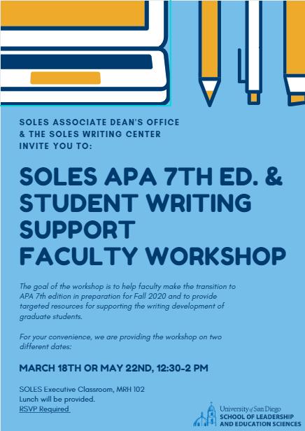 Faculty Workshop Flyer