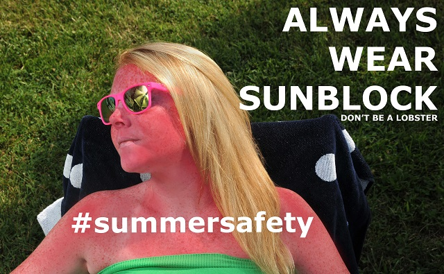 girl laying in the sun- always use sunscreen
