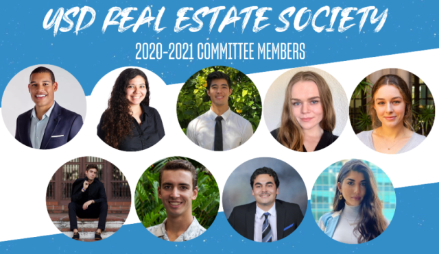 Image is of the 2020-21 Real Estate Society Committee
