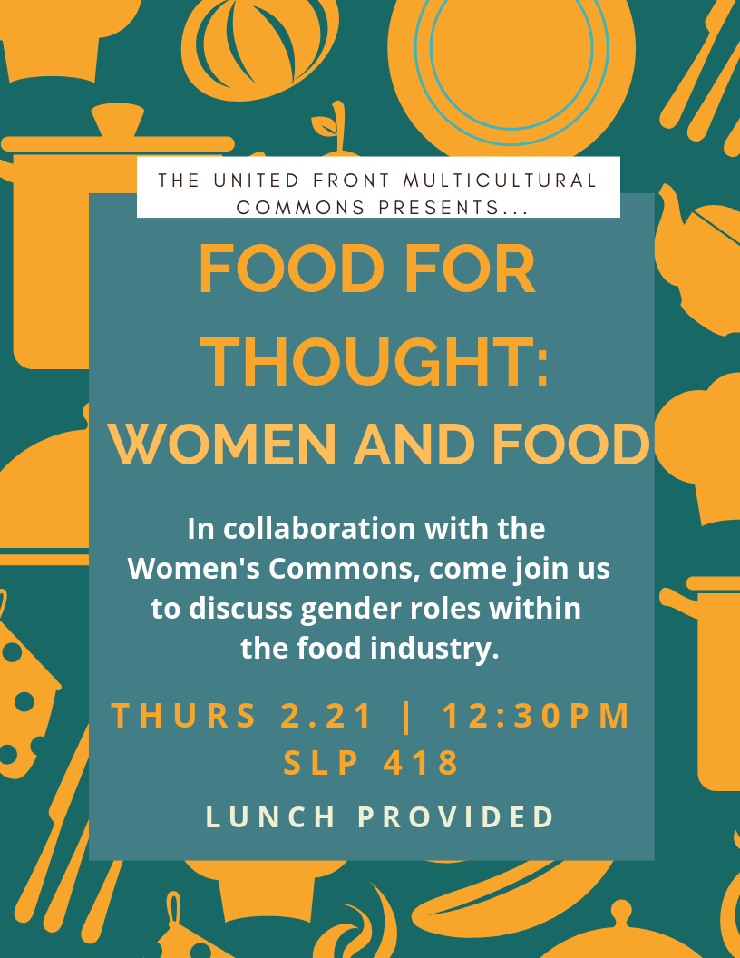 Flyer for Food for Thought: Women and Food