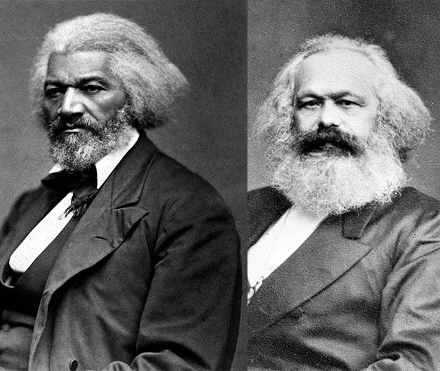 headshot of Douglass and Marx