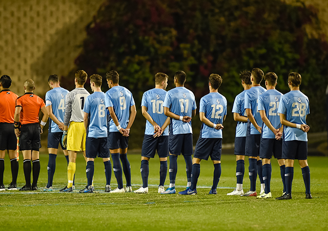 usd soccer players in a line
