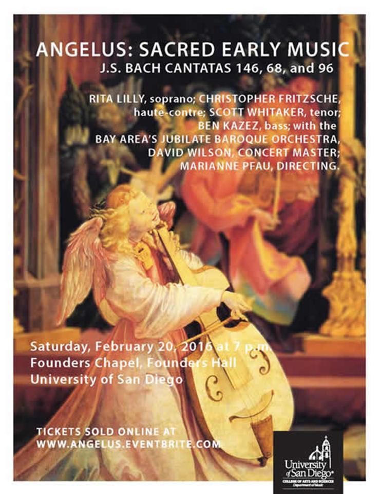 Annual Angelus Lenten Concert Flyer