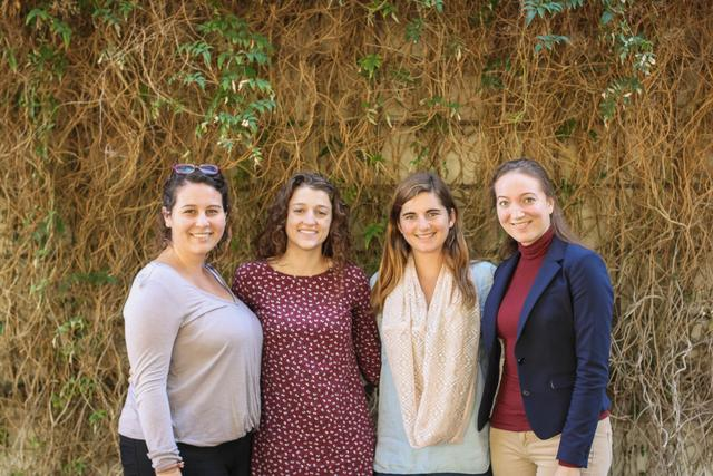 Fall 2016 IPJ interns Sofia Cardenas, Emilee Cutright, Angela Hessenius, and Clara Bird.