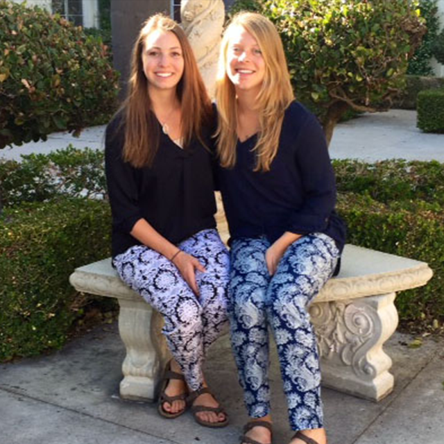 Brittany Becker '15 (right) with business partner Mackenzie Martin