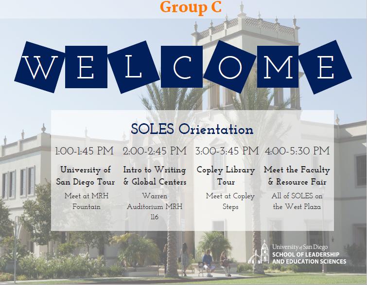 Orientation Group C Agenda
