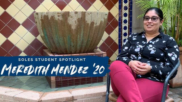 Meredith Mendez is a Master's student in the Higher Education program