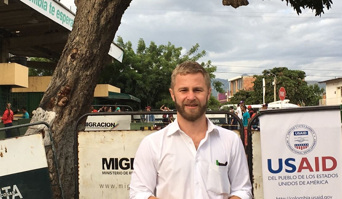 John Patterson in Colombia, where he works for USAID.