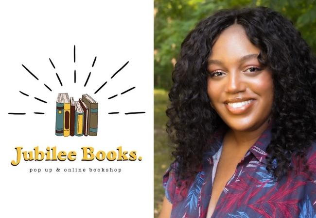Jubilee Books. Pop up & online bookshop. Photo of Chelsea McLin.