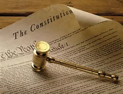 Constitution with gavel