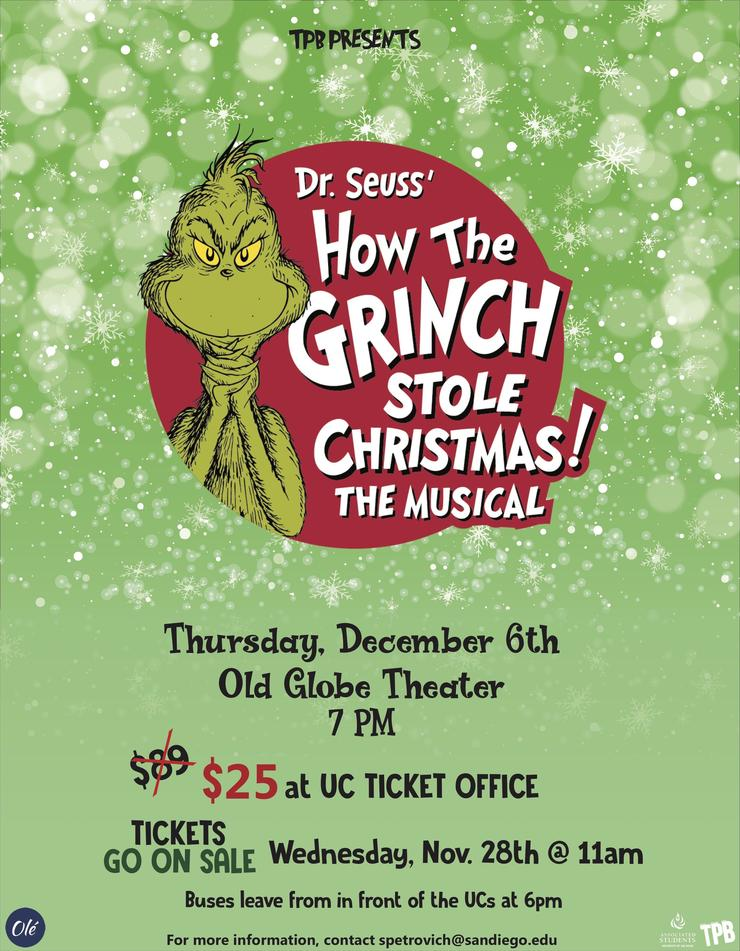 Flyer for The Grinch