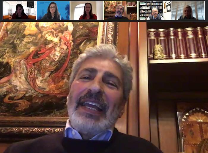 Ali Reza Arabnia '87 (MBA) speaks at the Ahlers Center's Virtual International Speaker Series