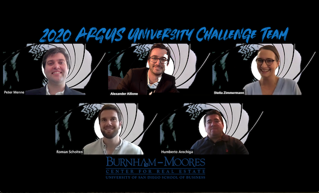 Photo is of the USD 2020 ARGUS University Challenge Team