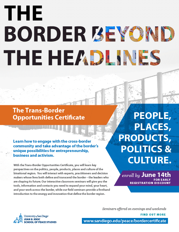 Flyer for Trans-Border Opportunities Certificate