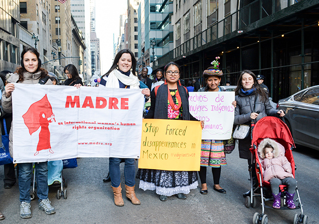 March for International Women's Day in March 2015 with our Indigenous women partner group.