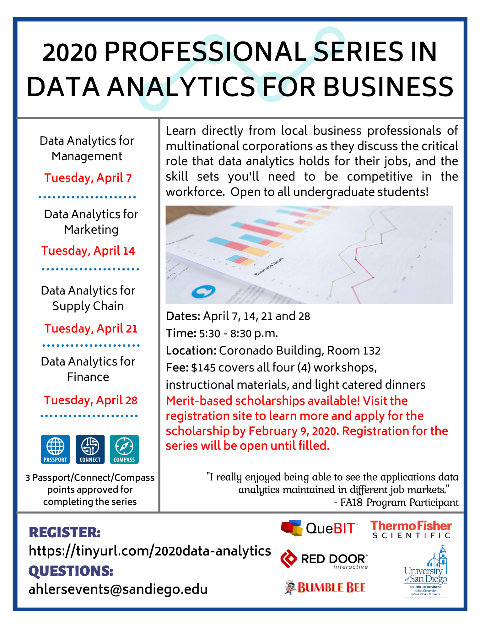 2020 Professional Series in Data Analytics for Business Flyer