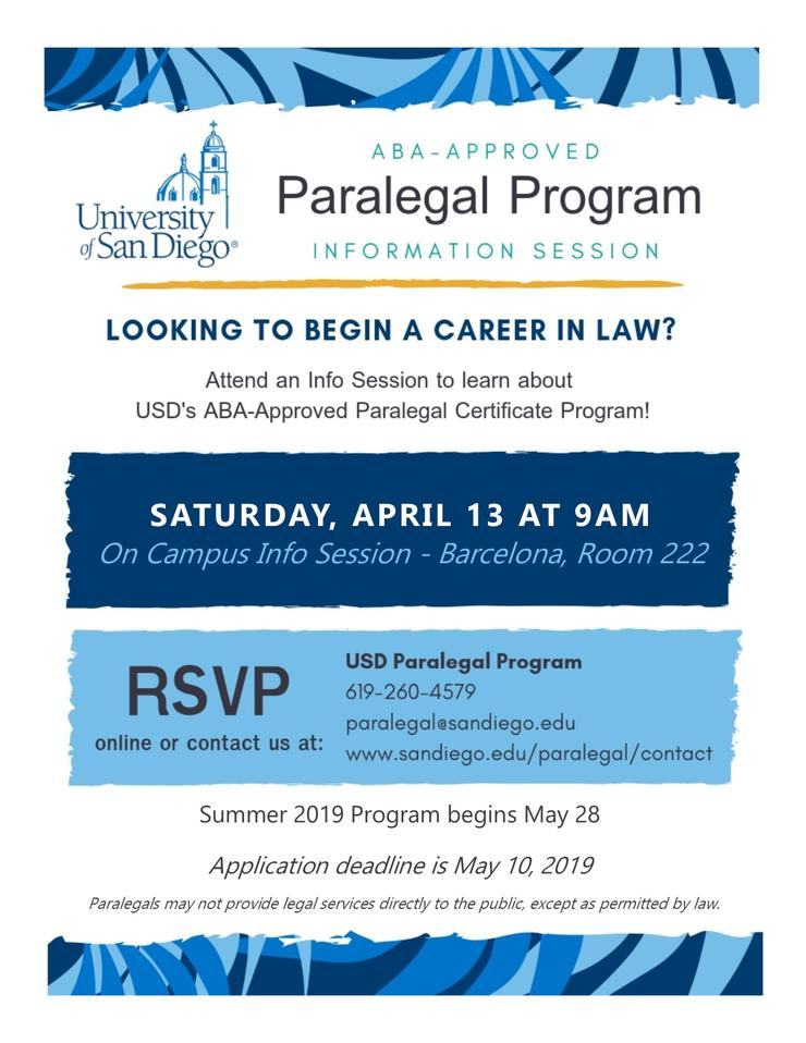 Paralegal Info Flyer
