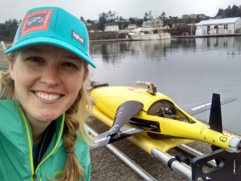 Selene with an underwater glider