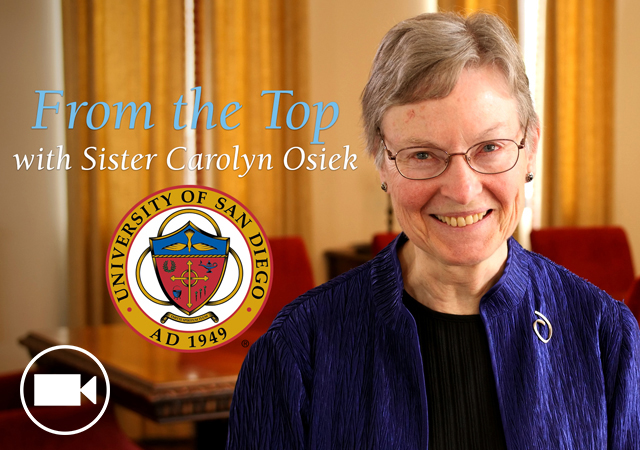Sister Carolyn Osiek, USD Board of Trustee, is featured on the video series,