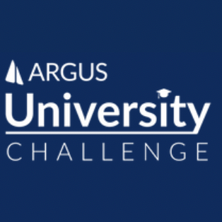Photo is the logo of the ARGUS University Challenge