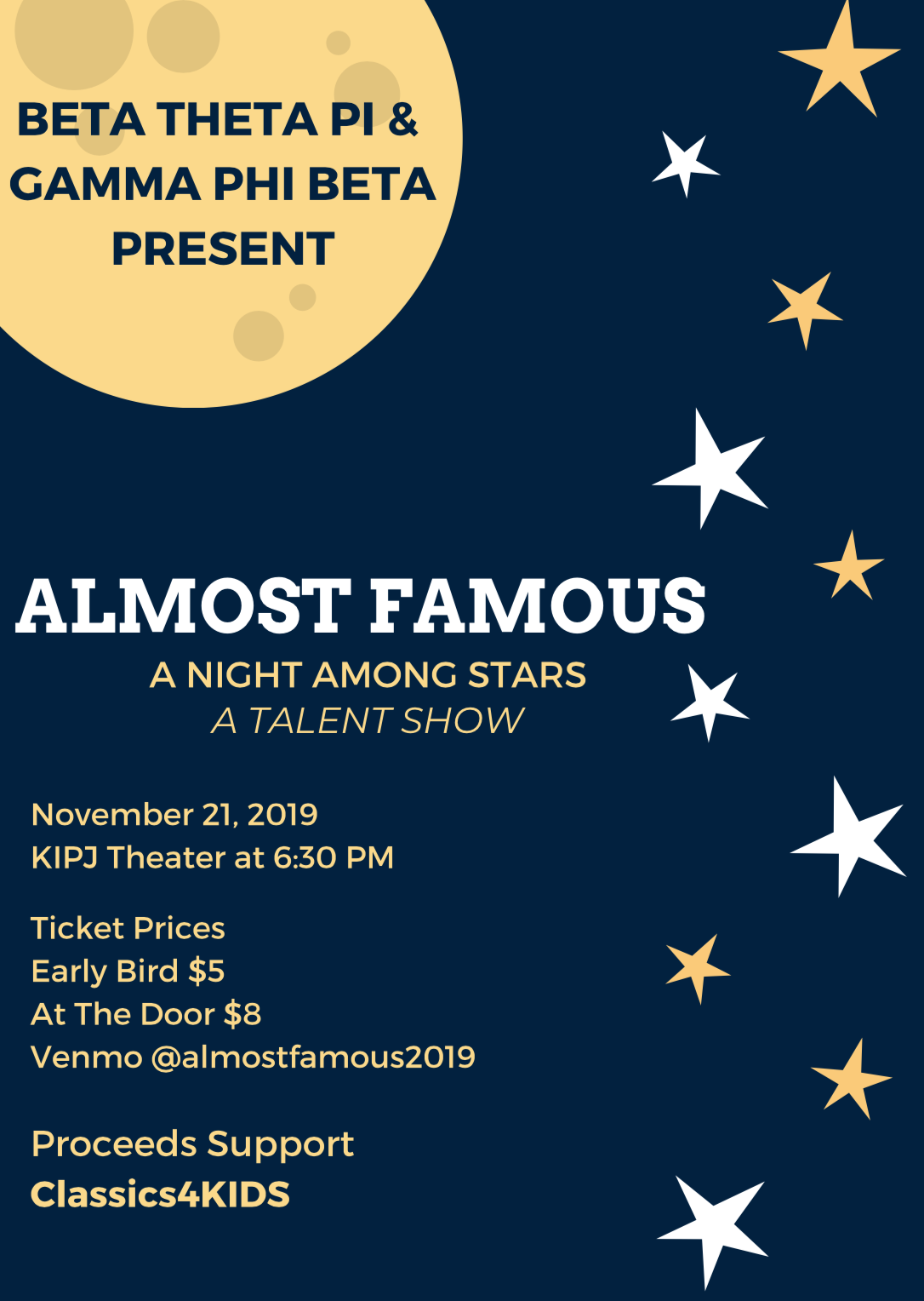 Almost Famous Talent Show- A Night Among the Stars