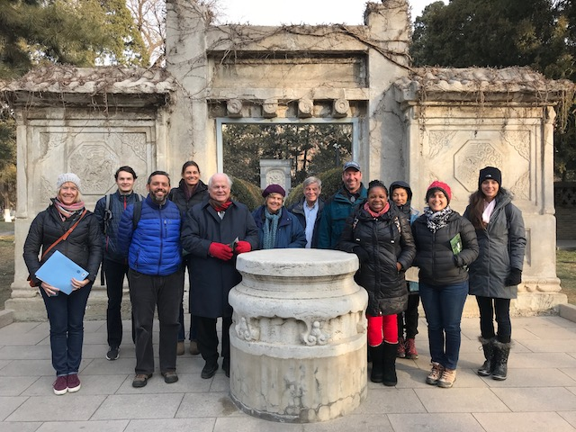 China Immersion faculty group photo outside of Matteo Ricci's tomb