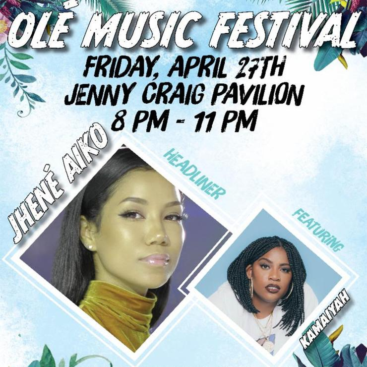 The 2018 Torero Program Board Ole Music Festival will take place on April 27 at the Jenny Craig Pavilion. Music performers are Jhene Aiko and Kamaiyah. The show runs 8-11 p.m.